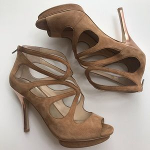 {Boston Proper} strappy heel stilettos